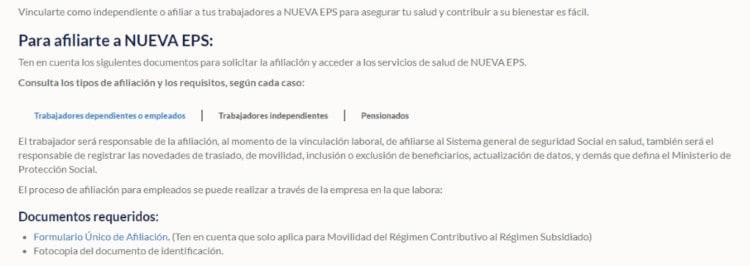 Descargar Formulario De Afiliación Nueva EPS