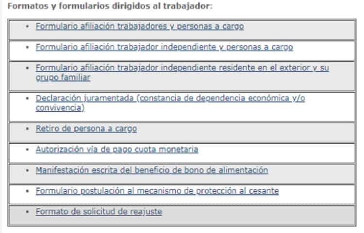 formulario subsidio de desempleo comfama