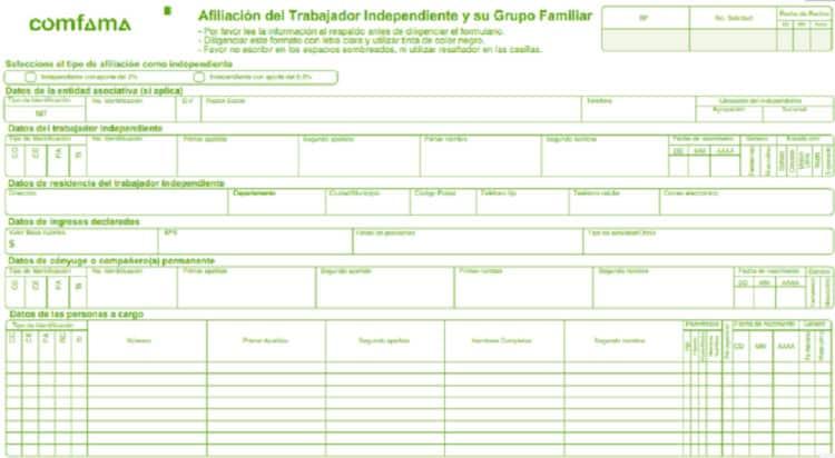 formulario para subsidio de vivienda comfama
